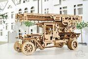 Jigsaw Puzzle 3d Puzzles For Adults Kids Learning Fire Ladder Truck Wooden Model