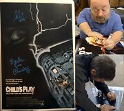 Child's Play Signed 12x18 Poster W/ Alex Vincent And Ed Gale Chucky Proof