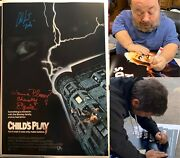 Child's Play Signed 12x18 Poster W/ Alex Vincent And Ed Gale Chucky W/insc. Proof