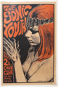 Sonic Youth Original 1987 Poster Signed By Frank Kozik