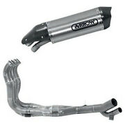 Full Exhaust Arrow System For Bmw S 1000 Xr 2017 2019 Race-tech Titanium Carby