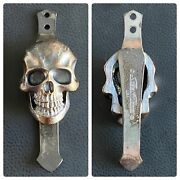 Steel Flame Pocket Clip For Fellhoelter Tibolt Tiny Bolt Pens - Xxl 3d Skull