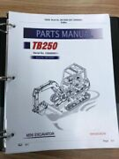 Takeuchi Tb250 Parts Manual S/n 125000001 And Up Free Priority Shipping