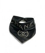 New Lambskin Black Leather Scarf Sold Out