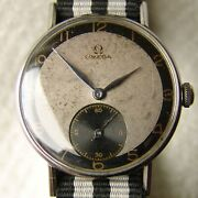 Good Condition Men's 35mm Omega Steel Wristwatch Wwii Period 1943