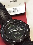 Victorinox Swiss Army Automatic Chronograph Black Dial Menand039s Watch 241527 New