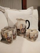 Royal Sealy Capri Large Pitcher And 5 Large Tumblers And 5 Small Tumblers