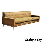 Mid Century Modern Paul Mccobb Style Wood Frame Sofa Couch By J.b. Van Sciver
