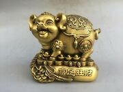 9and039and039 Brass Accumulate Fortune Wealth Coin Pig Saving Pot Piggy Bank Money-box Pig