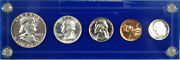 1955 Us Silver Proof Year Set, Semi-cameo 5 Coins Total