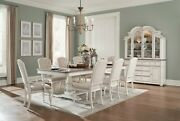 9 Pc Formal Farmhouse Chic Antique White Dining Table Dining Room Furniture Set
