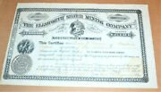 The Ellsworth Silver Mining Company 1880 Antique Stock Certificate