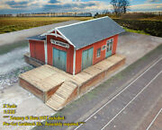 Z Scale Building -trackside Freight Depot Cover Stock Pre-cut Paper Kit Fdz2