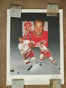18 X 24 Christopher Paluso Autographed Gordie Howe Lithograph