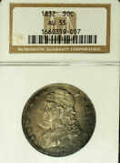 1832 50c Small Letters Au55 Ngc-capped Bust Half Dollar