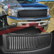Matte Vertical Fence Front Bumper Grill Grille For 07-13 Chevy Silverado 1500