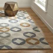 Crate And Barrel 6' X 9' Destry Handmade Parsian Style 100 Woolen Rugs And Carpet