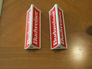 2 Budweiser Beer Tap Handle 3 1/2and039and039 Tall 3 Sided Kegerator Or Gear Shifter