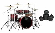 Mapex Saturn Scarlet Fade Jazz Drum Set 20x16/10x7/12x8/14x14 4pc Shells And Bags