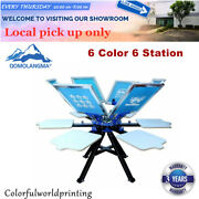 Ca 6 Color 6 Screen Printing Press Station Printer Double Rotary Print Equipment