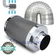 Hydroponics 4'' 6'' 8'' Activated Air Carbon Charcoal Filter And Hvac Duct Hose