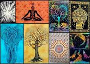 Indian Lot Of Cotton Wall Hanging Mandala Poster Tapestry For Living Room 30x40