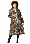 Roamanand039s Womenand039s Plus Size Printed Long Coat
