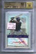 Pristine Auto Rc 2006 Bowman Sterling Justin Upton Refractor Red Ink/199 Bgs 10