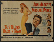 Bus Rileyand039s Back In Town 1965 Orig 22x28 Movie Poster Ann-margret Michael Parks