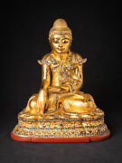 Antique Wooden Mandalay Buddha From Burma Late 19th / Early 20th Century