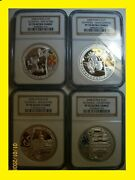 2008 China Olympic Complete 4 Silver Coins Set All Ngc Pf 70 Ultra Cameo