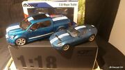 118 Spirit F150 Ford Shelby And Autoart Ford Shelby Cobra Gr-1 Concept Blue/white