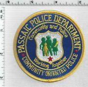 Passaic Police New Jersey 1st Issue Community Oriented Police Shoulder Patch