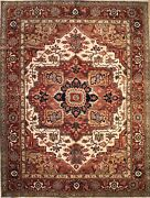 Hand-knotted Rug Carpet 9x11and0398 Serapi Mint Condition