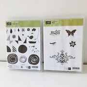 Stampin Up Swirly Bird And Bliss Bundle Stamp Set Butterfly - 29 Stamp Bundle