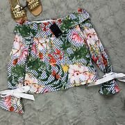 Fate By Lfd Tropical Floral Off The Shoulder Blouse Size Medium