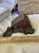 Nib Ertl Collectibles American Country Western Log Barn Cold Cast Porcelain 1996