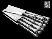 Antique French All Sterling Silver Knives 12 Pc W/box 2nd Empire