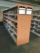 One Pristine Double Sided Sturdy Shelves Bookcase/shelf Cantilever 182x66x21