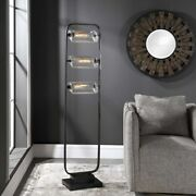 Urban Industrial Decor Thick Glass Shades Oil Rubbed Metal Floor Lamp Uttermost