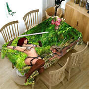 Forest Fork Prey 3d Tablecloth Table Cover Cloth Rectangle Wedding Party Banquet