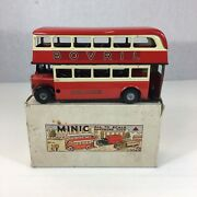 Vintage Boxed Triang Minic Double Decker Bus Mitcham London Transport Bovril