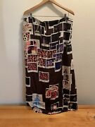 Moschino Cheap And Chic Black Brown Sheath Dress/skirt Abstract Size It 44 Us10