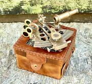 Vintage Solid Brass Nautical Ship Instrument Astrolabe Marine Sextant Maritime