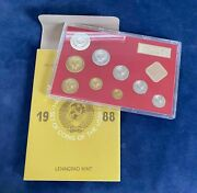 1988 Russia Cccp Coin Set Of The Ussr - Leningrad Mint - Free Shipping Usa