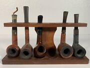 5 Vintage Pipes Savinelli Italy France Gbd Sherwood Old Vic Same Day Shipping