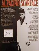 Al Pacino Signed 14x11 Photo Display Scarface And The Godfather Coa