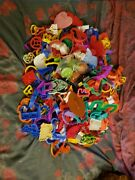 Huge Lot Of Over 360 Cookie Cutters Plastic Tiny Large Christmas Halloween Etc