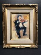 Ruth Anderson Indiana Artist Impressionist Painting Of Violin Player