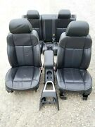2006-2010 Hummer H3 Black Leather Heated Seat Set Front/rear Oem